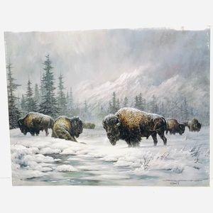 "Mini Print of ""Colorado Buffalo"" by Larry Fanning"